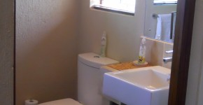 Bathroom, Shower and toilet in Cottage Dragonfly.